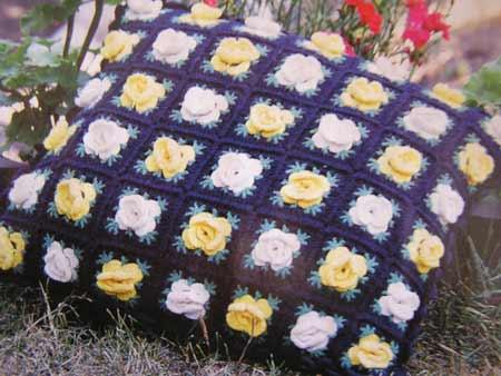 описание вязания крючком, вязаные подушки, вязание для дома, вязание.