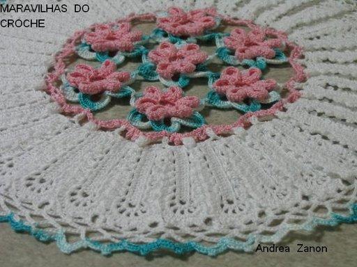 со схемами вязание крючком салфетка, витрины для цветов.