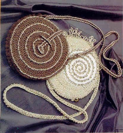 Модель 1 - Летняя сумка, связанная крючком.  Дополнительные аксессуары.