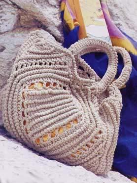 вязаные пляжную сумки крючком со схемами.
