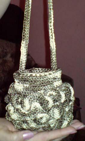 схемы вязания летних сумок из пакетов.